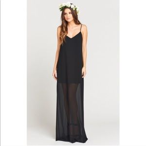 Show Me Your Mumu Black Chiffon Jolie Maxi Dress